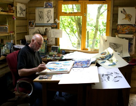 Andrew Haslen in his studio.
