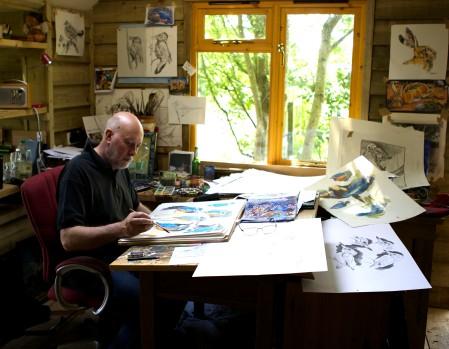 Andrew Haslen in his studio.