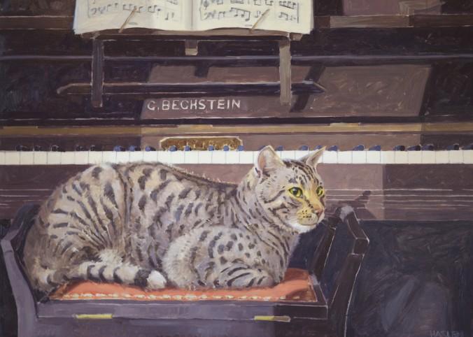 Tigger at Piano